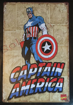 "Captain America Comics Wall Metal Sign plate Home decor 11.75"" x 7.8"""