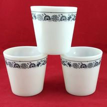 Pyrex 1410 Coffee Cups Vintage Old Town Blue ~ Set of 3 ~ Made in the USA image 4