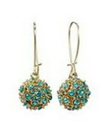 Apt 9 Gold Tone Blue Simulated Crystal Dangle Drop Earrings - $9.89