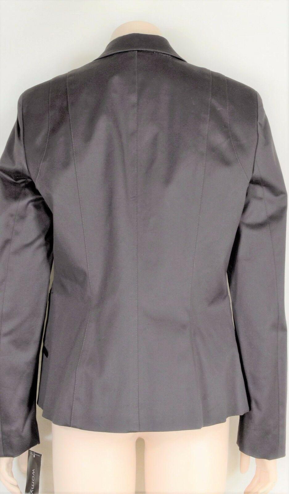 womyn jacket coat NWT SZ 8 dark brown 1-button closure lined NYC USA new image 3