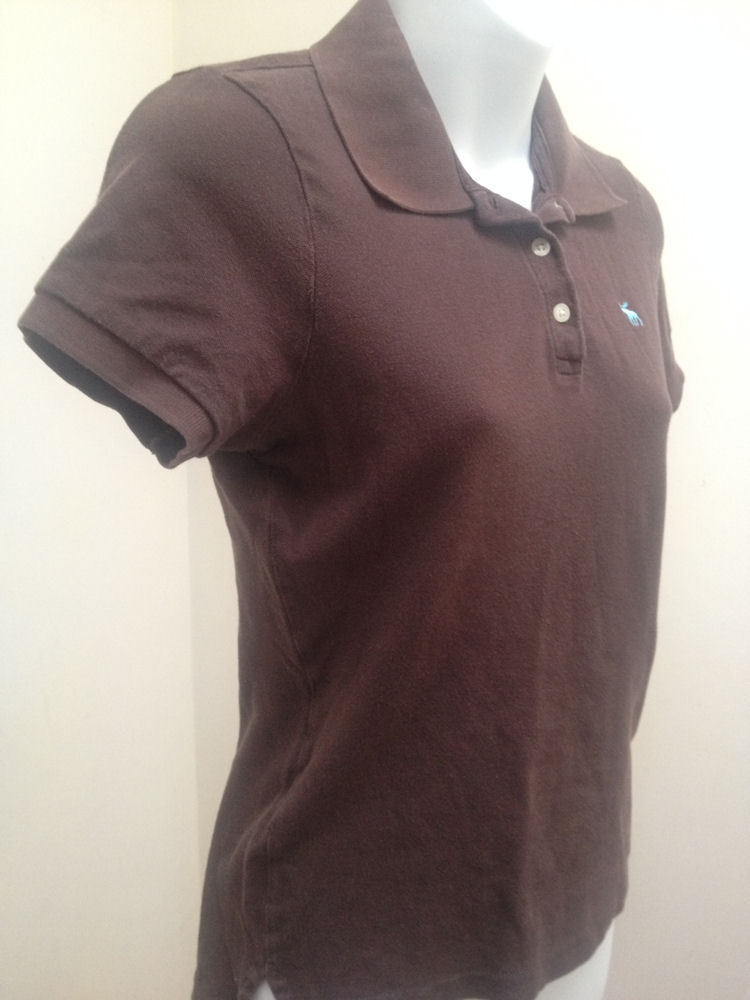 Abercrombie & Fitch Girls L Polo Shirt Brown Top School image 3