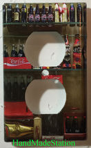 Coke Coca-Cola Mini Old Light Switch Outlet wall Cover Plate Home Decor image 2
