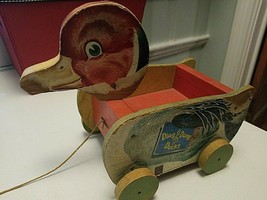 Vintage Fisher Price Ding Dong Ducky #724 Pull Toy Year 1949 Wooden - $139.00
