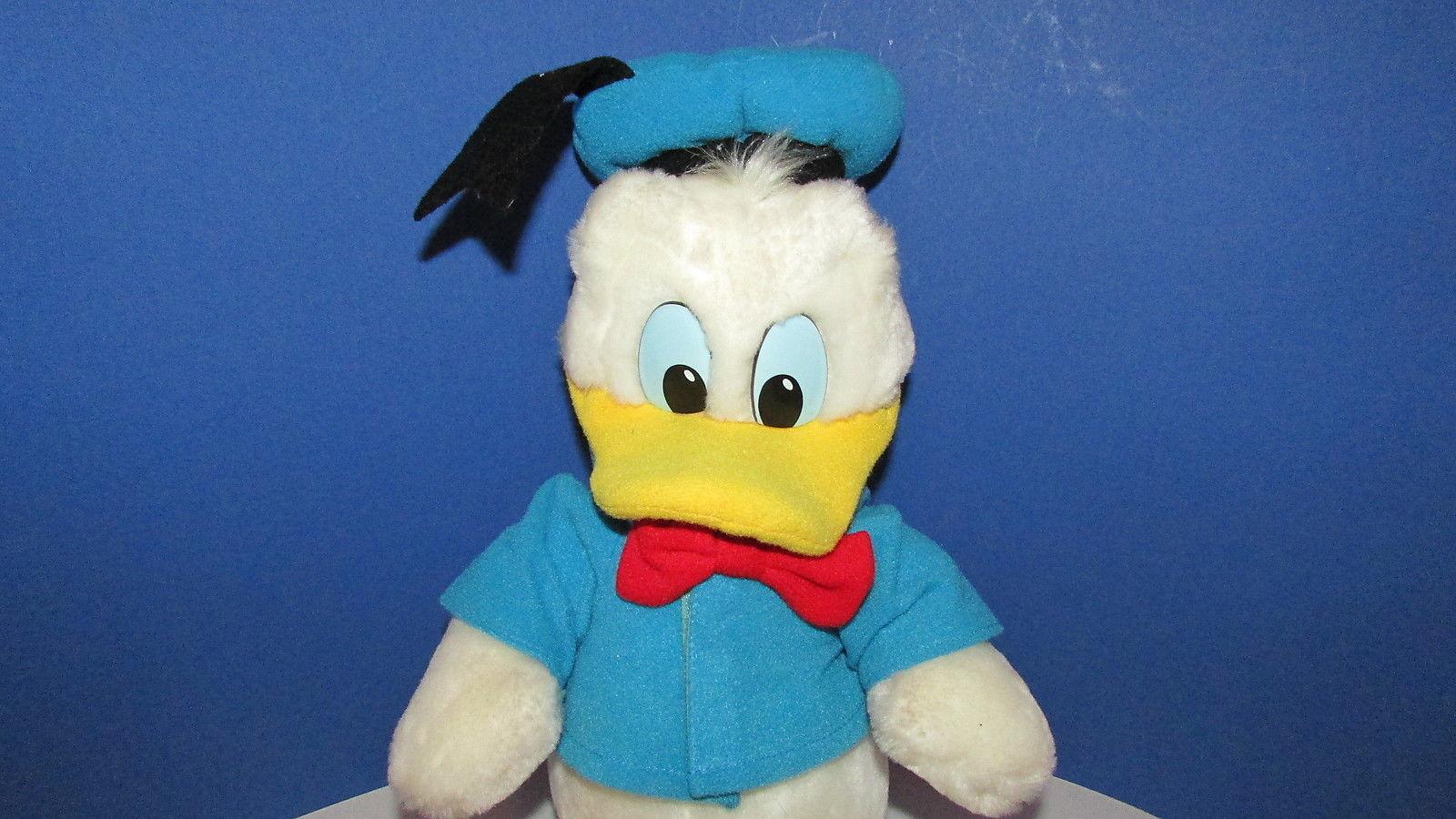 "Disney land World parks sailor Donald duck plush 11-15"" Stuffed vintage Korea"