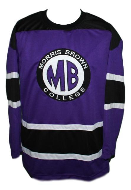 Martin payne  23 morris brown college tv show hockey jersey purple   1