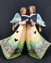 Tinworks Angels Singing Moon And Star Tin Sculp... - $9.49