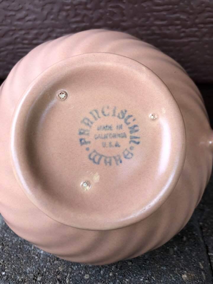Vintage Franciscan Coronado Coral Sugar Bowl California Pottery