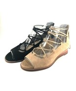 Vince Camuto Rochela Suede Leather Strappy Wedge Peep Toe Sandal Choose ... - $50.40