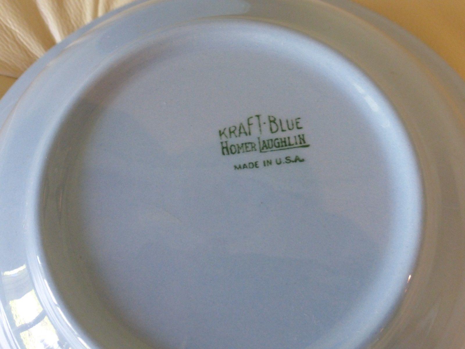 "Kraft Blue by Homer Laughlin Vegetable Bowl 8 3/4"" image 2"