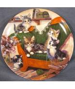 Happy Tails Collector Plate Litter Rascals Jurgen Scholz Cats Kittens 1998 - $21.95