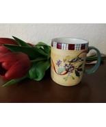 LENOX Winter Greetings Everyday GOLDFINCH Mug Coffee Cup Stoneware 14 oz... - $7.43