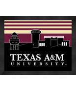 Texas A&M Aggies13 x 16 Uscape with Retro Skyline Framed Print  - $39.95