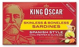 King Oscar Skinless & Boneless Sardines Spanish Style, 4.23 Oz Pack of 12 - $38.98