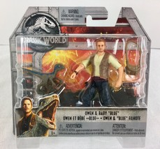 "Jurassic World Owen & Baby ""Blue"" action figures NEW Mattel 3.75"" - $12.86"