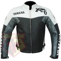 YAMAHA R6 GREY MOTORCYCLE MOTORBIKE BIKERS ARMOURED COWHIDE LEATHER JACKET - $194.99