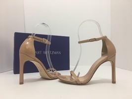 Stuart Weitzmen Nudist song Nude Patent Leather Women's High Heels Sanda... - $256.41