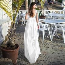Dress Long Sleeve Sweetheart Appliques Lace Backless Chiffon Maternity Wedding G image 2