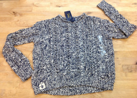 Ralph Lauren Girls Striped Sweater Navy/Cream, Size S 7 - $32.66