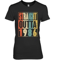 Straight Outta Retro USA 1986 32nd Birthday Gift 32 Vintage - $19.99+