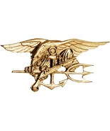 Naval Special Warfare Lapel Pin Gold US Navy Seals USN Trident Military ... - $11.99