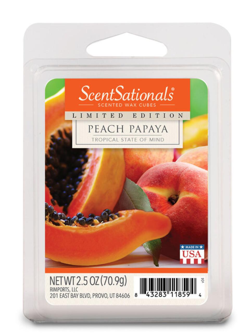 ScentSationals Scented Wax Cubes, Peach Papaya, 2.5 Oz - $4.49