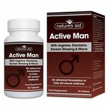 Active Man arginine ginseng maca  stamina and vitality natural herbal 60... - $12.48