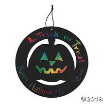 Large Magic Color Scratch Halloween Wreath Ornaments - $9.11