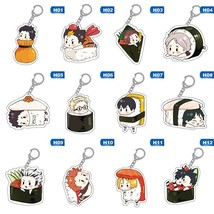 Cute Cartoon Keychain Volleyball boy Key Chain Ring Anime Haikyuu!! Keyr... - $12.00