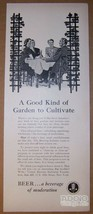 United Brewers Industrial Foundation beer moderation '40s TRADE AD vinta... - $11.64