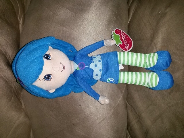 "Primary image for STRAWBERRY SHORTCAKE BLUEBERRY MUFFIN Brand New Licensed Plush Tags 14"" KELLYTOY"