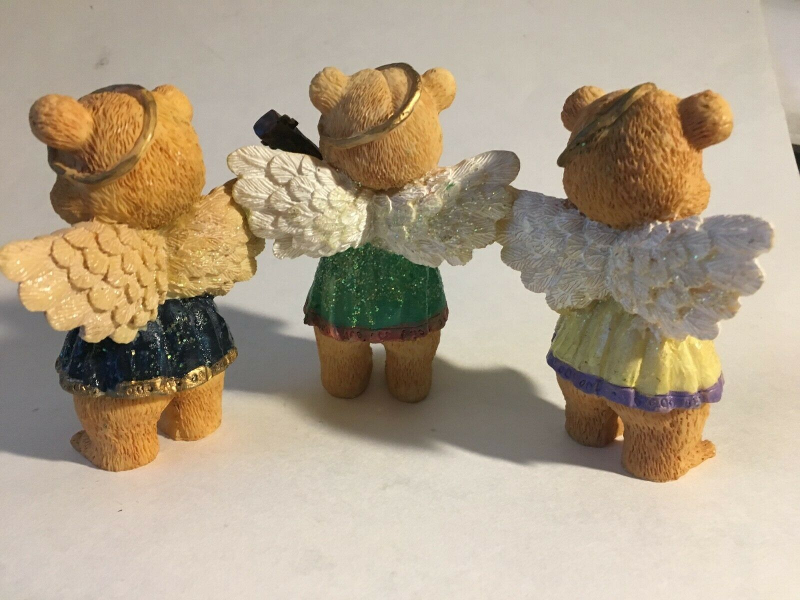 "3 Bear Angels Musical Band Instruments Resin Figurine 4"" image 4"