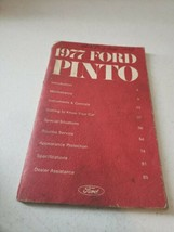 1977 Ford Pinto Nice Used Factory Original Owners Manual - $11.41
