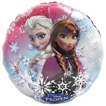 Disney Frozen Holographic Round Foil Mylar Balloon with Anna and Elsa New - $2.92