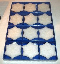 LOT OF 12 SNOWFLAKE FLOATING CANDLES - $5.20