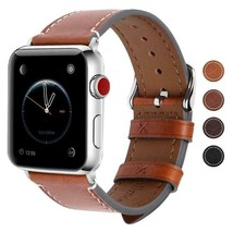 Genuine Leather Strap For Apple 1 2 3 4 38mm 40mm 42mm 44mm Vintage Watc... - $22.78+