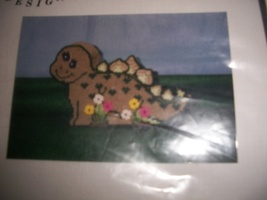 Luvlee Designs Plastic Canvas Kit LL983: Dino Bank  - $16.00