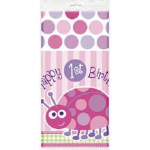 1st Birthday Ladybug Pink Tablecover Tablecloth 54 x 84 - £4.17 GBP