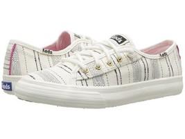 KEDS Double Up Sneaker Ivory Beach Striped (Little Kid/Big Kid) Size 5 - $19.95