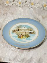 Avon Christmas Plate Series 1977 Carollers In The Snow Enoch Wedgwood England image 3