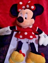 "Disney Minnie Mouse Plush Doll 18"" Tall Large Red Polka Dot Dress Jumbo - $12.82"