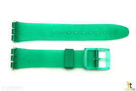 17mm Men's Translucent Frosted Green Replacement Watch Band fits SWATCH ... - $10.95