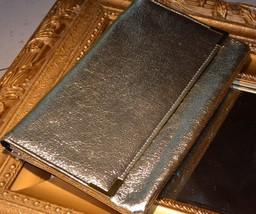 VINTAGE GOLD LAME ATOMIC GOGO 1960S PURSE FORMAL CLUTCH MOD RETRO BELL ... - $18.00