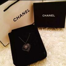 Auth Chanel Bañado en Plata cc Logos Charm Antiguo Cadena Colgante Colla... - $773.32