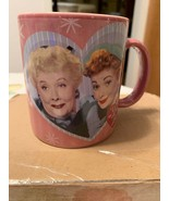 I LOVE LUCY & ETHEL Friends Forever Large Mauve Coffee Mug Cup Retired B... - $27.99