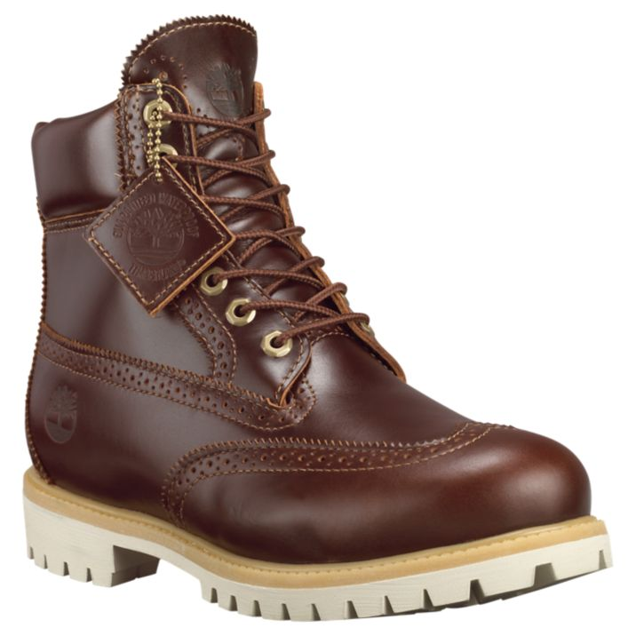 "Primary image for TIMBERLAND A12Z9 MEN'S 6"" PREMIUM WATERPROOF BROGUE BOOTS"