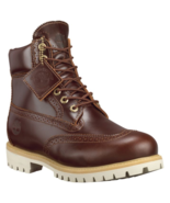"TIMBERLAND A12Z9 MEN'S 6"" PREMIUM WATERPROOF BROGUE BOOTS - $161.99"