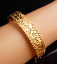 1900s Victorian bracelet - antique gold filled bangle - Antique bracelet 12kt  image 3