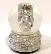 VIDEO San Francisco Music Co Snow Globe Angel Play Angels We Have Heard ... - $34.37