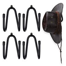 4 Pcs Cowboy Hat Rack Wall Mount Cowboy Hat Organizer Fedora Hat Hanger Straw Ha