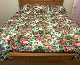 Longaberger Reversible White Vine Sentimental Queen Comforter + 2 Pillow... - $150.00